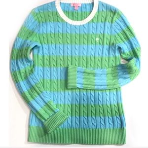 Lilly Pulitzer | Cable Knit Striped Sweater